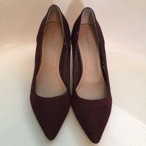 Charles David burgundy fabric heels